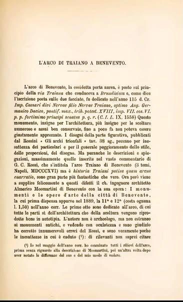 Bullettino dell'Istituto Archeologico Germanico di Roma - L'arco di Traiano