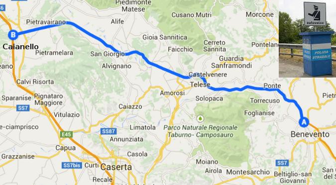Mappa Telese Caianello