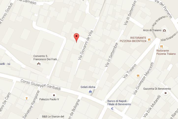 Mappa Piazza Sabariani