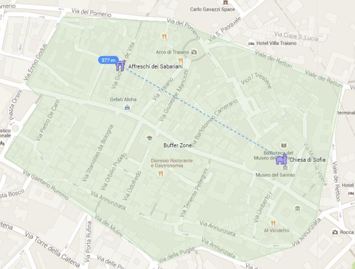 mappa buffer zone