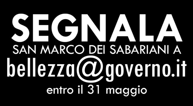 segnala a bellezza@governo.it