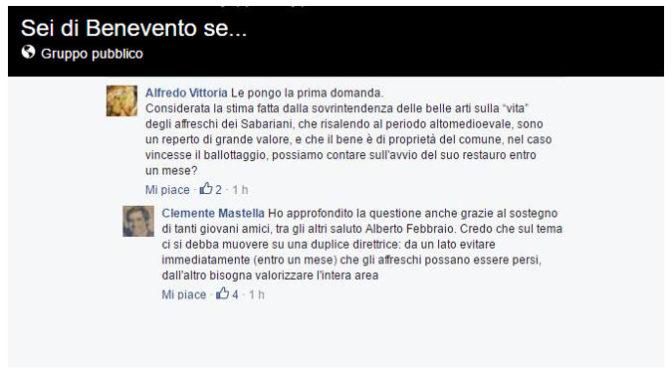 Chat Mastella sui sabariani Facebook