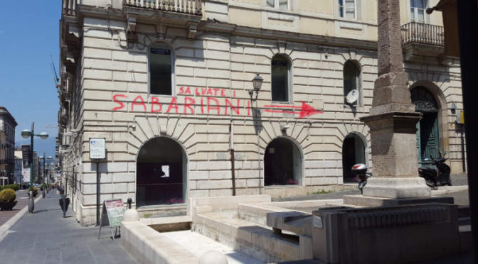 graffiti salviate i sabariani